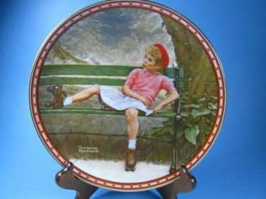 Breaking the Rules Rockwell Studies of Girlhood Plate COA
