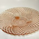 Anchor Hocking Prismatic Swirl Rib Console Pink Footed Bowl