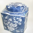 Avon Daher Tin Blue Floral Made in England