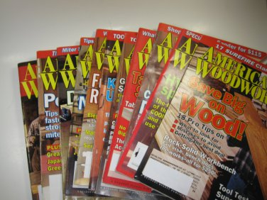 American Woodworker Magazine 11 Issues