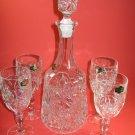 Crystal D'Adriana Kristal Zajecar Yugoslavia Wine Set