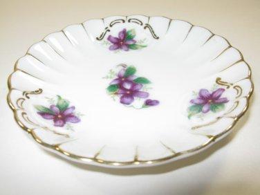 Violet Demitasse Saucer Gilded Japan