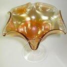 Fenton Radium Carnival Glass Marigold Compote