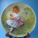 RECO Little Miss Muffet Plate Mother Goose Series COA