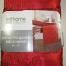 Poinsettia Sparkle Table Runner 14 X 70
