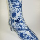 Shoe Vase Blue White Porcelain