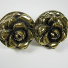 Rose Drawer Pulls Knobs Plastic Set of Two Vintage