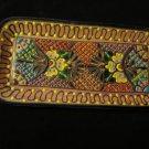 Mexican Talavera Serving Bread Tray Folk Art Pottery