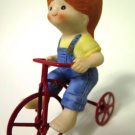 Enesco Country Cousins Little Girl Tricycle Bicycle Playground
