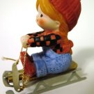 Enesco Country Cousins Little Girl and Sled