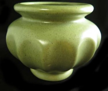 Haeger Pottery Speckled Green Vase Planter