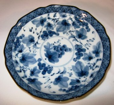 Oriental Bowl Plate Cherry Blossoms
