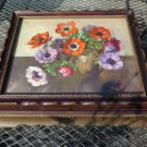 Vintage Lithograph Under Glass Wood Jewelry Box