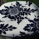 World Market Square Plate Blue White