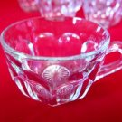 Vintage Punch Cups Paneled Clear Set of 6