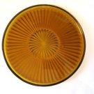 Vintage Amber Glass Starburst Cake Plate