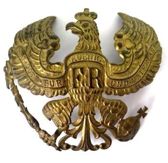 WWI Era Brass Prussian German Pickelhaube Helmet Insignia