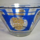 Hazel Atlas Grapes and Wheat Chip Dip Bowl Large Blue