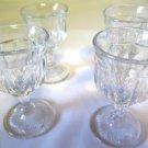 Set of Four Stemmed Cordial Glasses