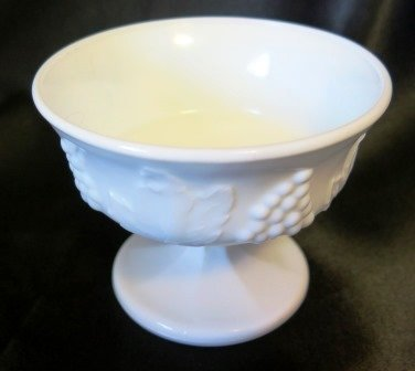 Indiana Glass Harvest Colony Milk Glass Sherbet