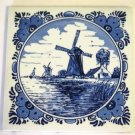 Vintage Delft Tile Windmill Made In Holland