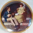 Pondering on the Porch Rockwell Collector Plate