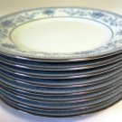 Noritake Blue Hill Bread Butter Dessert Plates Set of 8