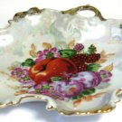 Iridescent Fruit Nappy Dish Gold Trim