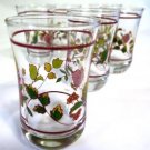 Anchor Hocking Floral Juice Glasses Set of Six