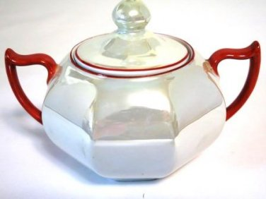 Z S & Co Lusterware Sugar Bowl Bavaria