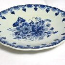 Royal Delft Footed Dessert Cake Plate Handpainted