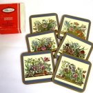 Pimpernel Acrylic Floral Array Coaster Set 6