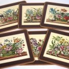 Pimpernel Acrylic Floral Array Trivet Placemat Set 6