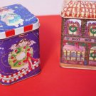 Christmas Tin Candles Set of Two Vanilla and Spice