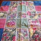 Handcrafted Baby Quilt Blanket Garden Seeds