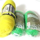 Vintage Phentex Yarn Mint Yellow Celespun 4 Skeins 3 ply