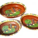 Mexican Red Clay Nesting Bowls Set of 3