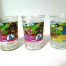 Dragon Tales Welch's Jelly Juice Glasses Set of 3