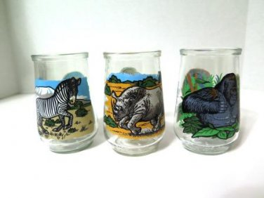 Endangered Species Welch's Jelly Juice Glasses Set of 3