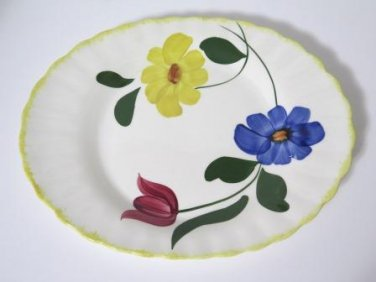 Blue Ridge Hand Painted Serving Platter Vintage