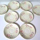 Homer Laughlin Eggshell Nautilus Pastel Rose Bread Butter Plates 8