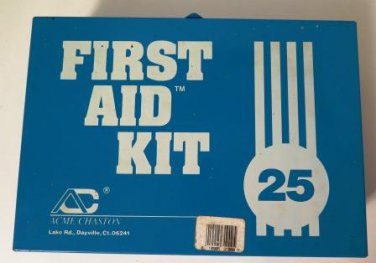 Acme Chaston First Aid Kit Metal Box Nearly Complete
