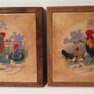 Rooster Chicken Tile Trivets Wall Hangings Italy