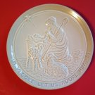 Come Let Us Adore Him  Frankoma Collector Plate 1981 Joniece Frank