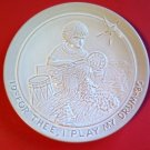 For Thee I Play My Drum Frankoma Collector Plate 1986 Joniece Frank
