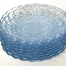 Anchor Hocking Fire King Blue Bubble Saucers 8