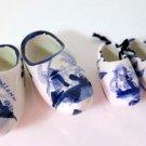 Porcelain Delfts Dutch Shoes Holland Windmill