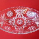 Anchor Hocking Prescut Clear Celery Pickle Serving Dish Oval