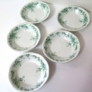 Alfred Meakin Coniston Green Berry Bowls Set of 5