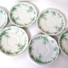 Alfred Meakin Coniston Green Saucers Set of 6